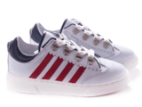 Pinocchio lage sneaker wit/rood