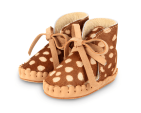 Donsje babyslofje Pina Exclusive Brown Spotted